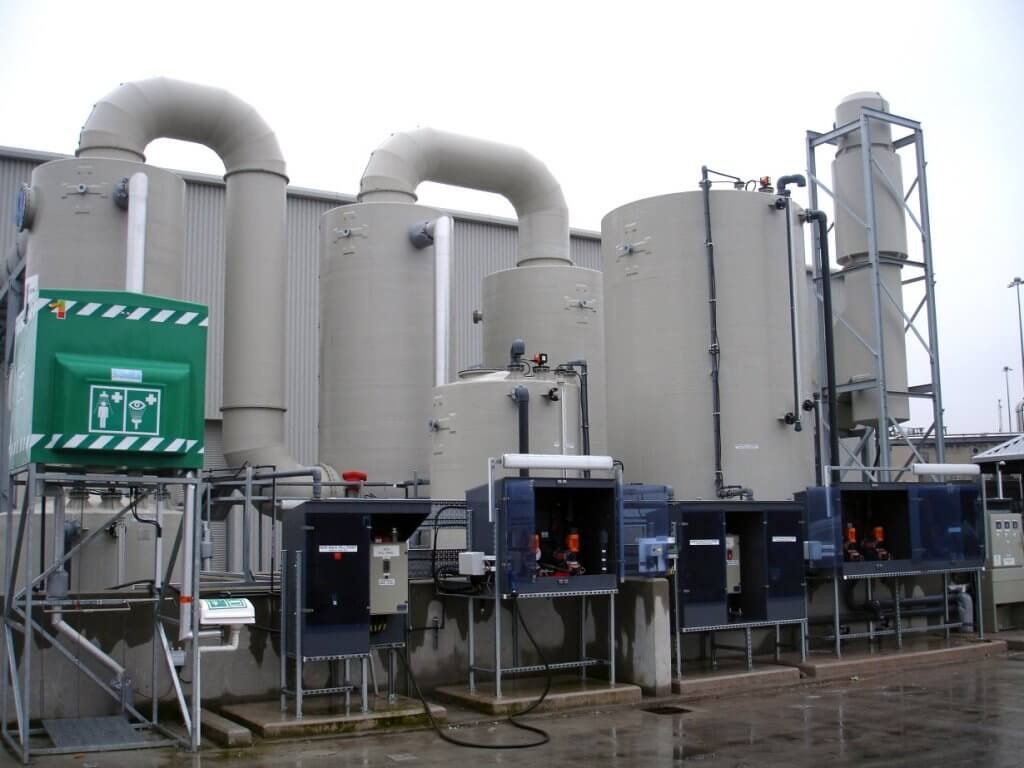 An image of one of Parsons' odour scrubbers.