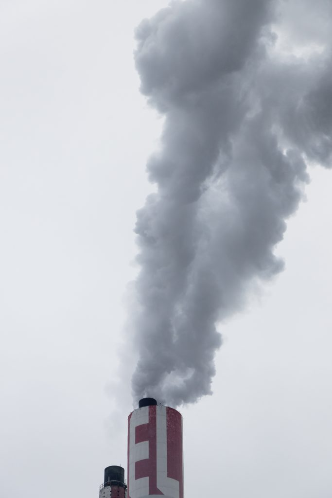 Smoke coming out of a chimney