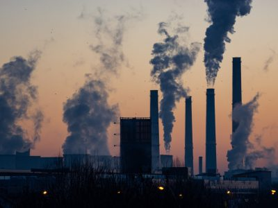 Air pollution from industry factories