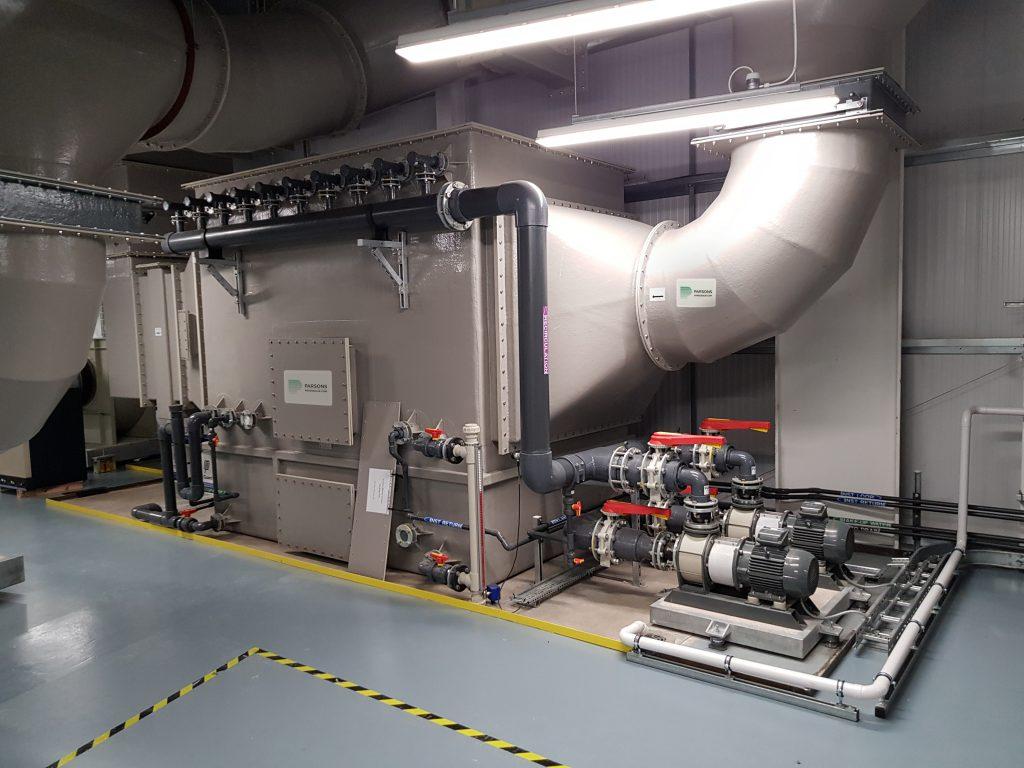 Parsons' gas scrubbing system